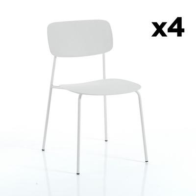 4er Set Stühle Primary I Weiß