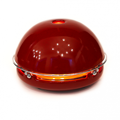 Kerzen-Raumheizer Egloo | Rot glasiert