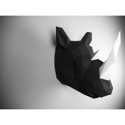 Wandtrophäe Nashorn