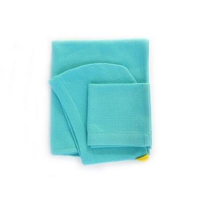 Kapuzenhandtuch & Waschlappen | Blau