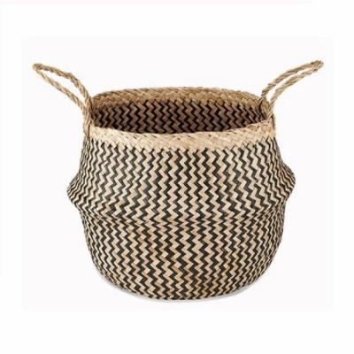 Ekuri Basket Medium   Black and Natural
