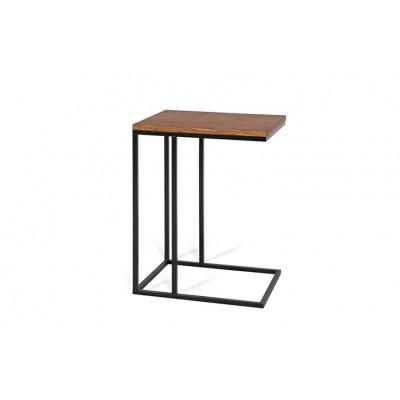 Beistelltisch Forest | Schokolade Eichene Tischplatte & Schwarzes Gestell