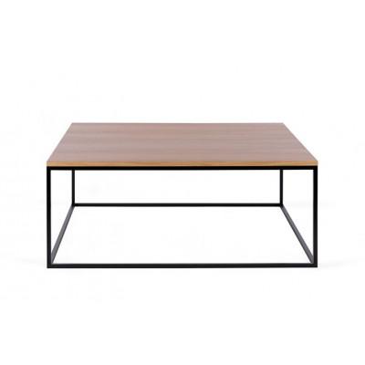 Couchtisch Forest Quadrat | Eichene Tischplatte & Schwarzes Gestell