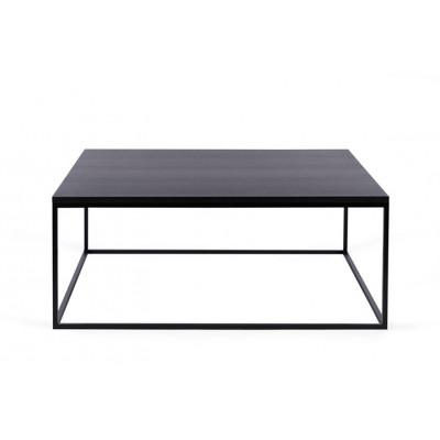 Couchtisch Forest Quadrat | Schwarz Eichene Tischplatte & Schwarzes Gestell