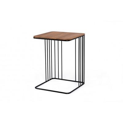Beistelltisch Elegans | Eichene Tischplatte & Schwarzes Gestell