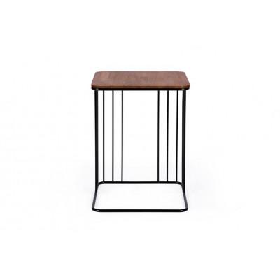 Beistelltisch Elegans | Schokolade Eichene Tischplatte & Schwarzes Gestell
