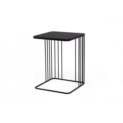 Beistelltisch Elegans | Mattschwarze Tischplatte & Schwarzes Gestell