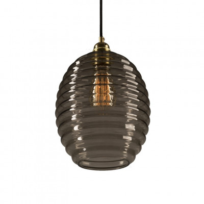 Glas Pendelleuchte Light Smoked Beehive   Gold-Transparent geräuchert