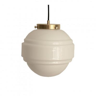 Glas Pendelleuchte Saturn   Weiß-Gold