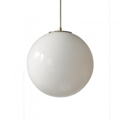 Glas Pendelleuchte Light Weißer Ball 350   Weiß-Gold