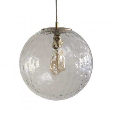 Glas Pendelleuchte Reflection Globe   Goldtransparent
