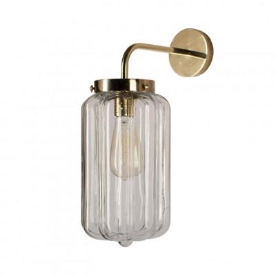 Glaswandleuchte Clear Deco   Gold