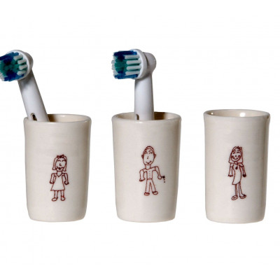 Electric Tootbrush Vases Ulrike Family Kids