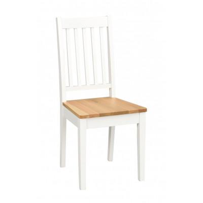 Stuhl Ella   Weiß / Eiche
