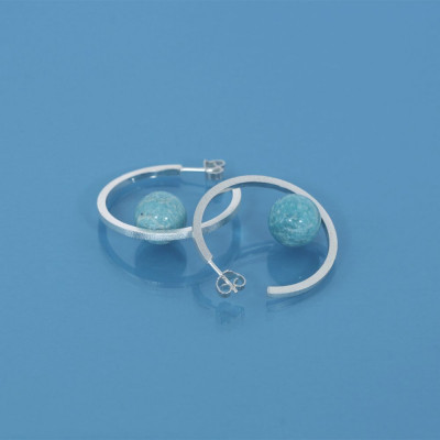 Ellas Creol Earring   Silver