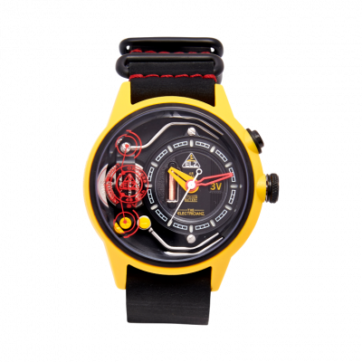 Armbanduhr The Ammeter | Gelb