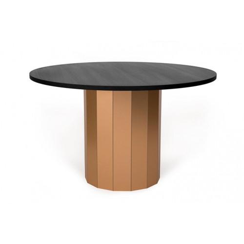 Esstisch Revolve | Schwarzes Tischplatte & Kupferne Beine