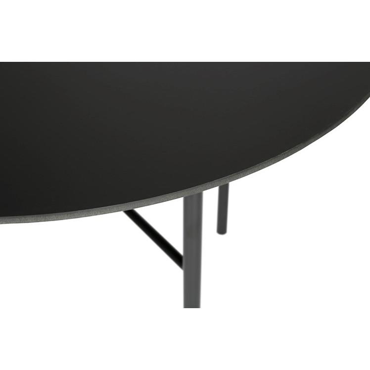Esstisch Traversa | Mattschwarze Tischplatte & Schwarzes Gestell