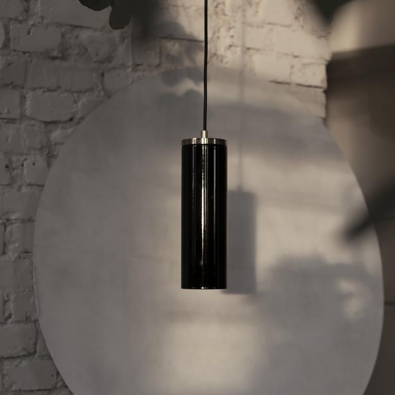 Glas Pendelleuchte Schwarz Kopenhagen | Schwarz-Gold
