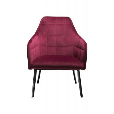 Lounge Chair Embrace Velvet | Ruby