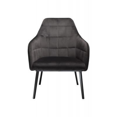 Lounge Chair Embrace Velvet | Schwarz