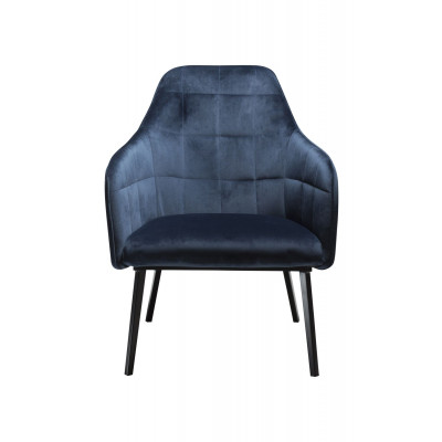 Lounge Chair Embrace Velvet | Blau