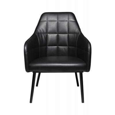 Lounge Chair Embrace Artificial Leather | Vintage Black