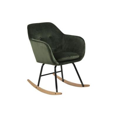Schaukelstuhl Velvet Mila | Waldgrün