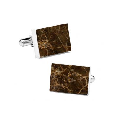 Marble Cuff Links | Emperador (Rectangular)