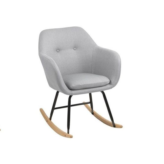 Rocking Chair Mila   Light Grey