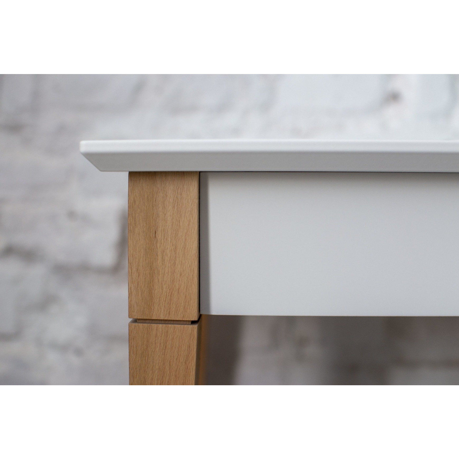 Konsolentisch mit Regal MIMO | Weiß
