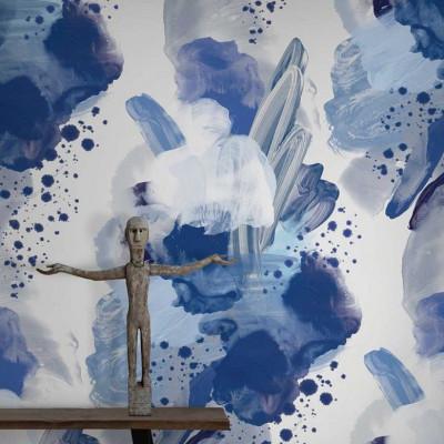 Wallpaper English Rose | Blue