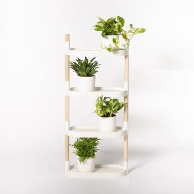 Pflanzenständer mit Etagen | Weiß