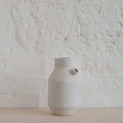 Spout Vase | Speckled Off-White