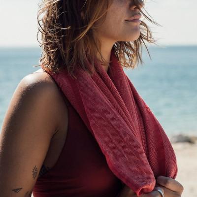 Beach Towel Ericeira | Red
