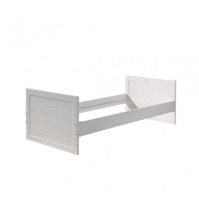 Verwandelbares Kinderbett Erik | 120 x 90 cm | Weiß