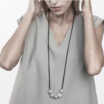 Halskette ERRANT | Grau & Schwarz