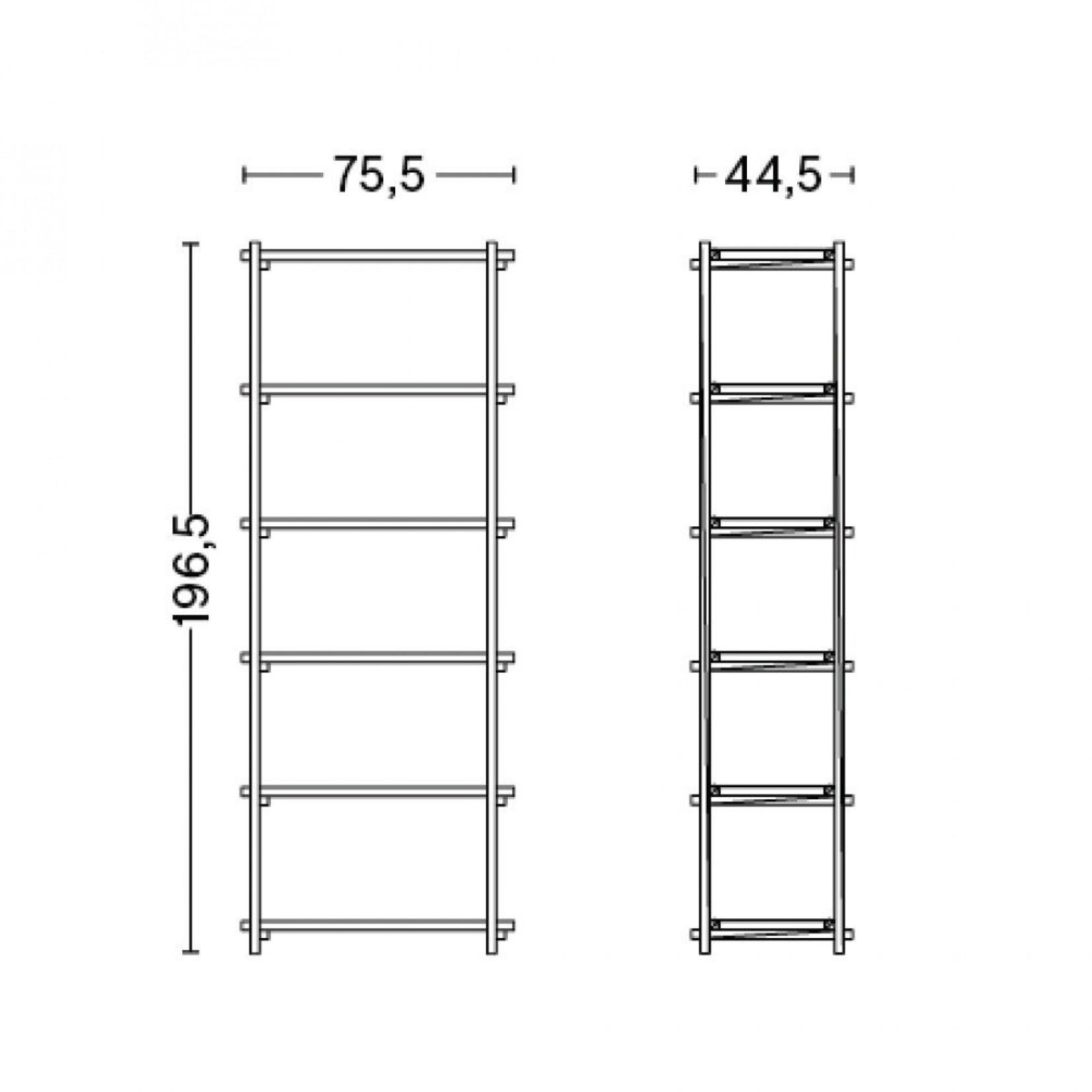 Woody Shelf Column High | White