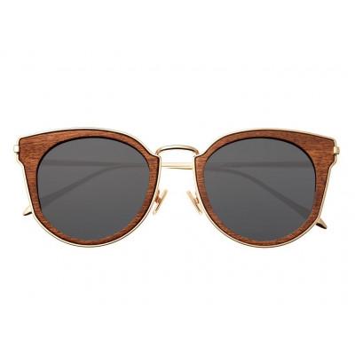 Sunglasses Earth Wood Karekare | Black + Gold Frame