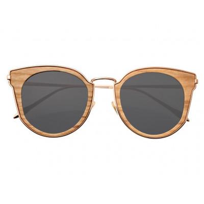 Sunglasses Earth Wood Karekare | Black + Rose Gold Frame