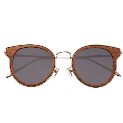 Sunglasses Earth Wood Derawan | Black + Silver Frame
