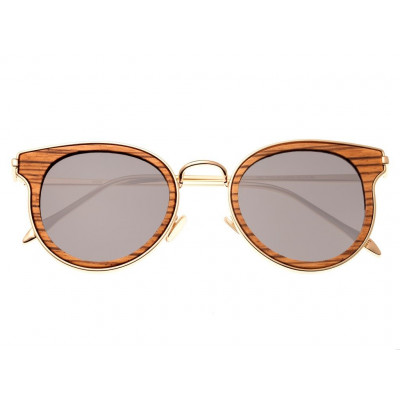 Sunglasses Earth Wood Derawan | Black + Golden Frame