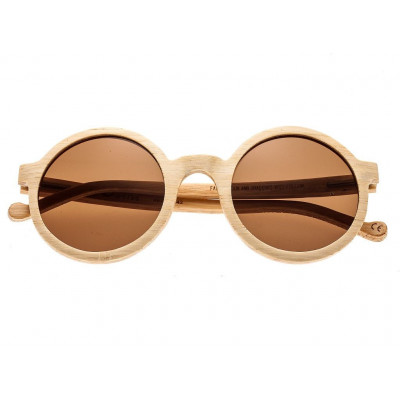 Sunglasses Earth Wood Canary | Brown + Bamboo Wooden Frame