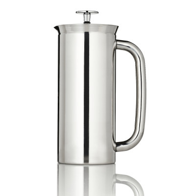 P7 French Press w/ Coffee Filter 550 ml | Polished Stainless Steel