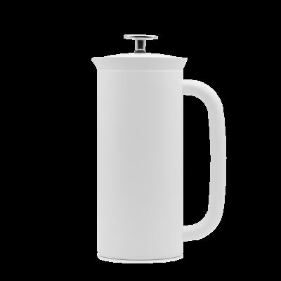 French Press mit Kaffeefilter P7 | Weiß