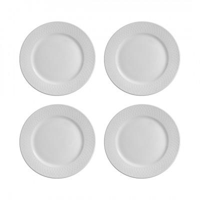4er-Set Teller Arabesque | Weiß
