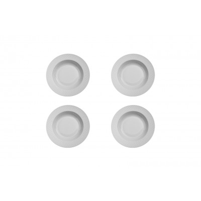 4er-Set Suppenteller Arabesque | Weiß