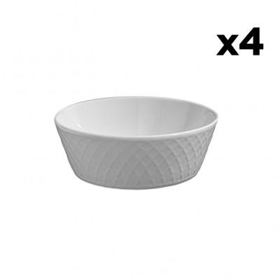 4er-Set Schalen Arabesque | Weiß