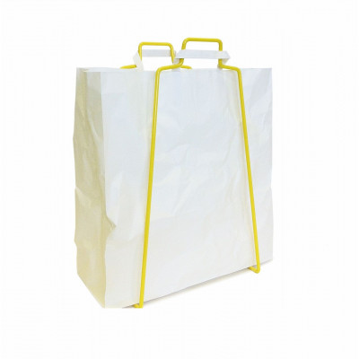 Papiertüten-Halter - gelb