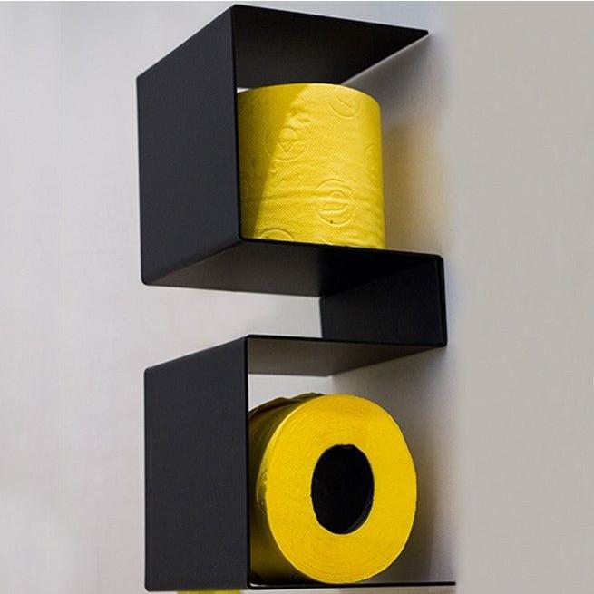 Toilettenpapierhalter InTeam   Schwarz